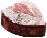 Federica Moretti Two Tone Crushed Velvet Hat W/ Brooch