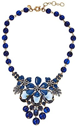 J.Crew Flo Pave and Pearl Necklace (Navy) Necklace