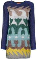 Missoni multi-printed fitted dress