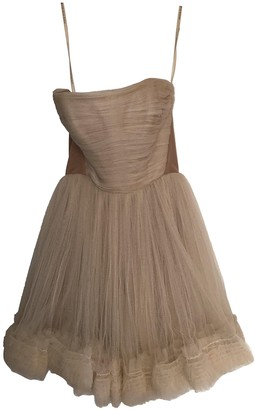 Maria Lucia Hohan Beige Polyester Dresses