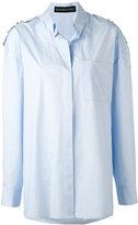 Alexandre Vauthier embellished shirt - women - Cotton/Brass - 36