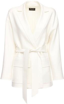 Loro Piana Janelle Fluid Linen Jacket W/ Belt