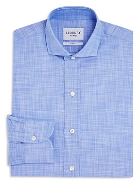 Ledbury Chambray Slim Fit Dress Shirt