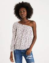 American Eagle Outfitters AE Smocked One-Shoulder Top