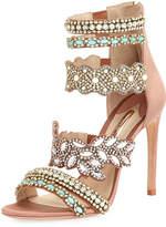 Sophia Webster Eden Crystal-Embellished Satin Sandal