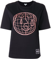 Kenzo World embroidered top - women - Cotton/Polyester - S