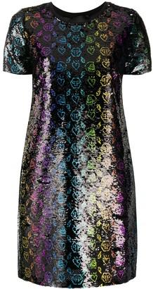 Philipp Plein Moana Monogram sequin dress