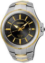 Seiko Coutura Mens Two-Tone Stainless Steel Solar Bracelet Watch