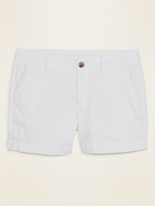 Old Navy Mid-Rise Everyday Eyelet Shorts for Women -- 5-inch inseam