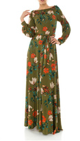 Janette Fall Floral Maxi Dress