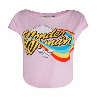 Dc Comics Women's Wonderwoman Rainbow T-Shirt