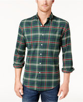 Club Room Men's Plaid Stretch Flannel Shirt, Created for Macy's