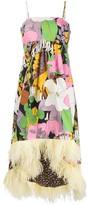 Thumbnail for your product : La DoubleJ La Scala feather trim dress