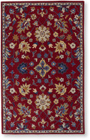 L.L. Bean Floral Wool Tufted Rug, Red