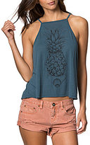 O'Neill Pineapple Graphic High Neck Tank Top