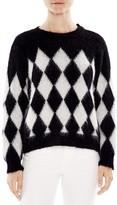 Sandro Clark Diamond-Patterned Sweater