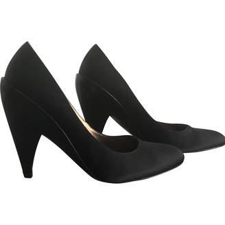 Pura Lopez Black Leather Heels