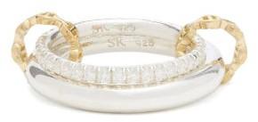 Spinelli Kilcollin X Hoorsenbuhs Virgo Diamond & Sterling Silver Ring - Silver Gold