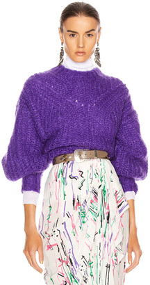 Isabel Marant Inko Sweater in Purple | FWRD