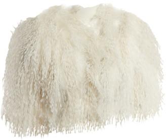 Azzaro White Fur Jacket for Women
