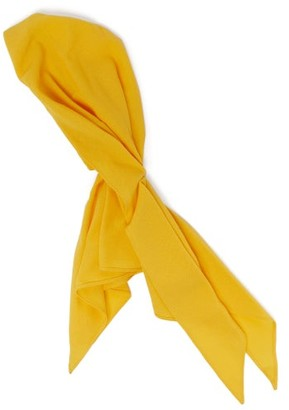 Marta Ferri - Wool-crepe Headscarf - Womens - Yellow