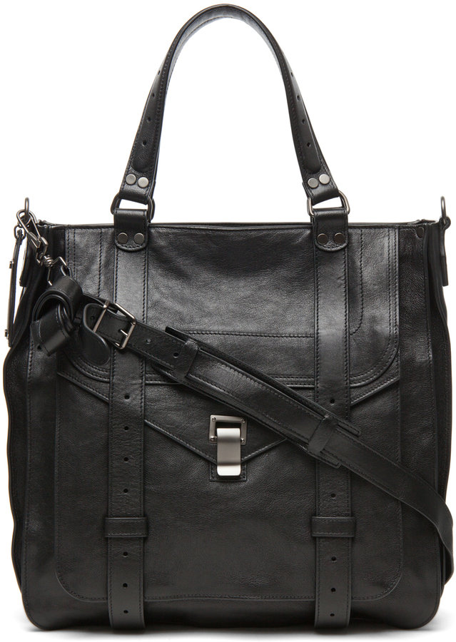 Proenza Schouler PS1 Large Tote Leather in Black