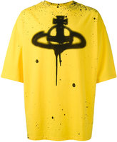 Vivienne Westwood oversized spray paint logo T-shirt