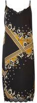 River Island Womens Black print lace midi slip dress