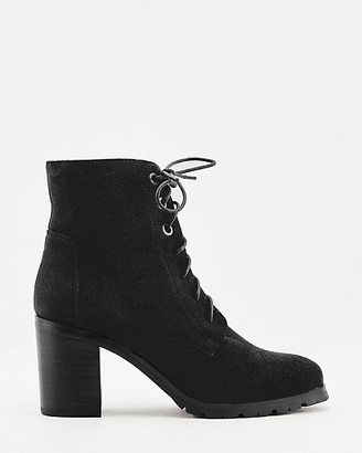 Le Château Faux Suede Lace-Up Ankle Boot