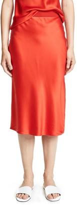 Theory Women's Pull ON MIDI Slip Skirt