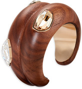 Swarovski Wood Crystallized Large Cuff, gold plating