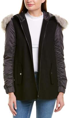 Sage Short Wool-Blend Jacket