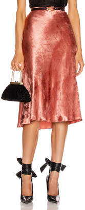 Brock Collection Perwinkle Velvet Midi Skirt in Pink | FWRD