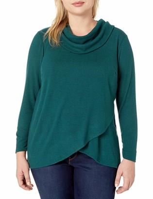 Amy Byer Women's Plus Size Tulip Hem Top