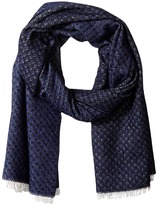 Scotch & Soda Gentleman's Scarf in Soft Wool Blend Quality with Blanket Inspired Pattern
