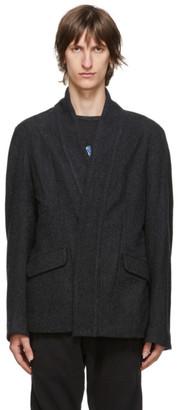 Greg Lauren Grey Wool Kimono Ollie Cardigan
