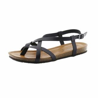 BearPaw Women's Lucia Ankle Strap Sandals Black (Black Ii (011) Black Ii (011) 7 UK