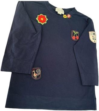 Gucci Navy Cotton Knitwear