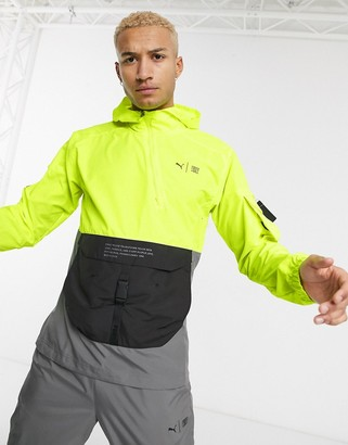 Puma First Mile jacket in neon yellow