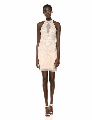 Adrianna Papell Women's Halter Beaded Dress