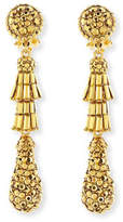 Jose & Maria Barrera Golden Tiered Baguette Teardrop Earrings