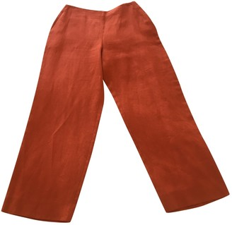 Hermes Orange Linen Trousers
