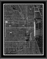 PTM Images Chicago Map Canvas with Floater Frame