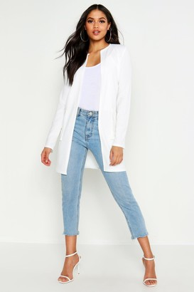 boohoo Tall Collarless Duster Jacket