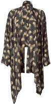 Black/Beige Open Kimono Top