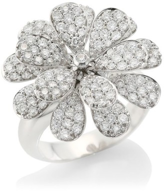 Hueb Secret Garden 18K White Gold & Diamond Flower Ring