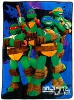 Nickelodeon Teenage Mutant Ninja Turtles Stars Fleece Blanket, 62 x 90""
