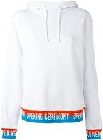 Opening Ceremony slogan trim hooded sweatshirt
