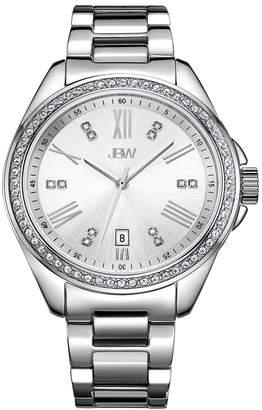 JBW Women's Jet Setter GMT Diamond Stainless Steel Bracelet Watch, 38mm - 0.12 ctw