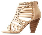 Charlotte Russe Braided Caged Sandals